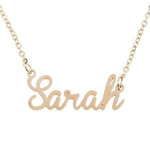 Jewelry - 3/$30 Gold Sarah Name Nameplate Necklace